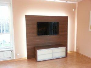 TV stěna / ořech dijon / LED osvětlení