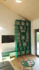 Knihovna zelená smaragd