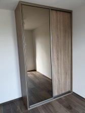 Lamino bardolino šedé / zrcadlo bronz